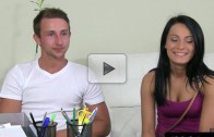 Amateur couple fucking during audition